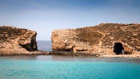 Остров Comino около Мальты Стоковые Фото