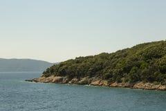 Остров Cres на Адриатическом море, Хорватии Стоковые Изображения