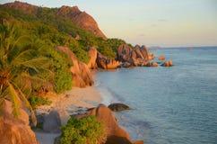 Остров Digue Ла Стоковое Изображение RF