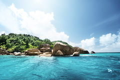 Остров Digue Ла Стоковое Изображение