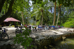 Остров Digue Ла, Seychesses стоковое изображение