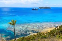 Остров Dravuni, Фиджи Стоковые Фотографии RF