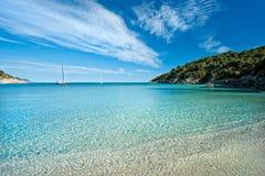 остров fetovaia elba пляжа Стоковая Фотография