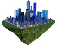 остров flyng зданий Стоковая Фотография