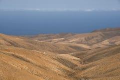 остров fuerteventura пустыни Стоковые Изображения RF