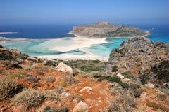 остров gramvousa Крита Стоковое фото RF