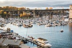 Остров Granville в Ванкувере, Канаде Стоковое Изображение
