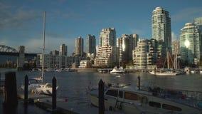 Остров Granville и Yaletown Ванкувер 4K UHD акции видеоматериалы