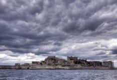 Остров Gunkanjima стоковая фотография rf