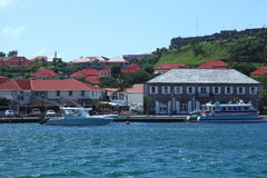 Остров Gustavia Сен-Бартельми, карибский Стоковая Фотография RF