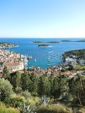 Остров Hvar в Адриатическом море, Хорватии Стоковые Фото