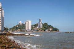 Остров Ilha Porchat Porchat - Sao Vicente, Сан-Паулу, Бразилия стоковое фото