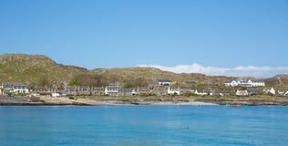 Остров Iona Шотландии Великобритании внутренний Hebrides шотландский с острова западного побережья Mull Шотландии Стоковые Фотографии RF