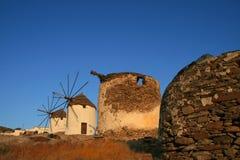 остров ios Греции Стоковая Фотография