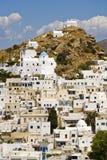 остров ios Греции Стоковые Изображения