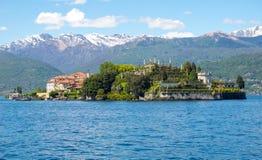 Остров Isolabella в озере Maggiore Стоковое Изображение