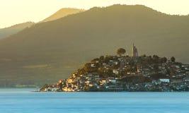 Остров Janitzio, Patzcuaro, Michoacan, Мексика стоковое изображение rf