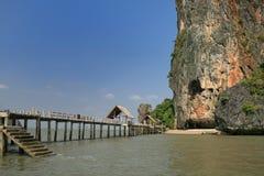 Остров Khao Phing Kan, Таиланд Стоковая Фотография