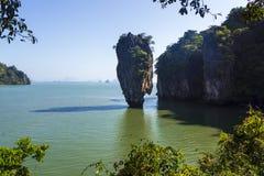 Остров Ko Tapu Skaramanga - остров Жамес Бонд, Таиланд стоковое изображение rf