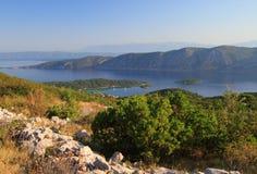Остров Korcula в адриатическом море Стоковые Изображения RF