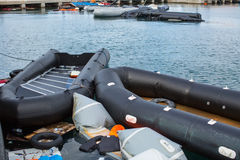 Остров Kos, Греция - европейский кризис беженца Стоковое Изображение