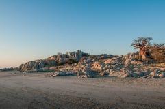Остров Kubu, Ботсвана стоковое фото
