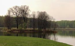 Остров Kuskovo на большом пруде дворца в Kuskovo Стоковые Фото