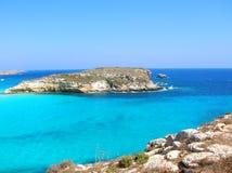 остров lampedusa Стоковое Изображение