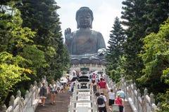 Остров Lantau статуи Tian Tan Будды Стоковая Фотография RF
