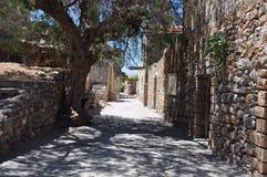 Остров leper Spinalonga, Крит Греция Стоковое Изображение