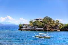 Остров Lipo - подныривание, snorkeling пункт в Anilao стоковые фото