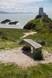 Остров Llanddwyn, Anglesey, Gwynedd, северное Уэльс, Великобритания Стоковая Фотография