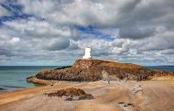 Остров Llandwyn стоковая фотография rf