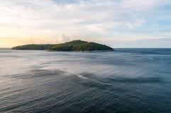 Остров Lokrum на темной воде стоковое фото rf