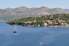 Остров Lopud в Хорватии Стоковое Фото
