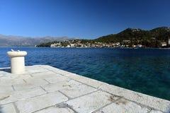 Остров Lopud, Дубровник, Хорватия Каменная пристань Стоковое Изображение RF