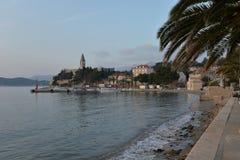 Остров Lopud, Дубровник, Хорватия Старое село Стоковая Фотография RF