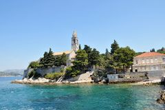 Остров Lopud Хорватия Стоковое фото RF