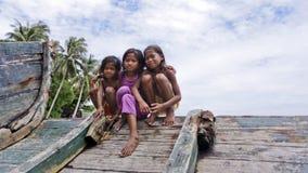 ОСТРОВ MABUL, МАЛАЙЗИЯ 23-ье сентября: Неопознанное море Bajau c Стоковые Фотографии RF