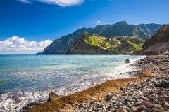 Остров Maderia, от деревни Faial стоковые фото