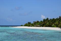 остров maldivian Стоковое Изображение