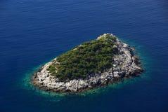 Остров Mljet перед островом 01 Стоковая Фотография RF