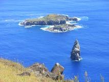 Остров Moto Nui, восточный остров, Чили Стоковая Фотография RF