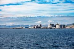 Остров Muolkkut северная Норвегия Хаммерфеста, завод по обработке газа Стоковое фото RF