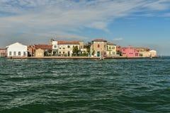 Остров Murano - около Венеции, Италии Стоковое фото RF