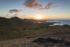 Остров Nacula на зоре, острова Yasawa, Фиджи Стоковое Изображение