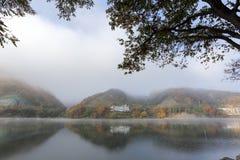 Остров Namiseom в осени Стоковая Фотография