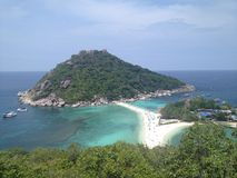 Остров NangYuan - Ko Дао - Таиланд Стоковое Изображение