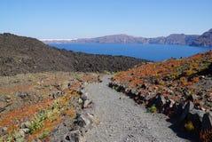 Остров Nea Kameni около Santorini, Греции Стоковое Изображение RF