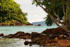 Остров Ngam Koh, остров Ko Bai Dang, южная оконечность острова Chang Koh стоковые фото